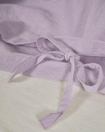 Set Dileta funda nórdica, bajera y funda almohada 100% algodón GOTS lila 150 x 190 cm