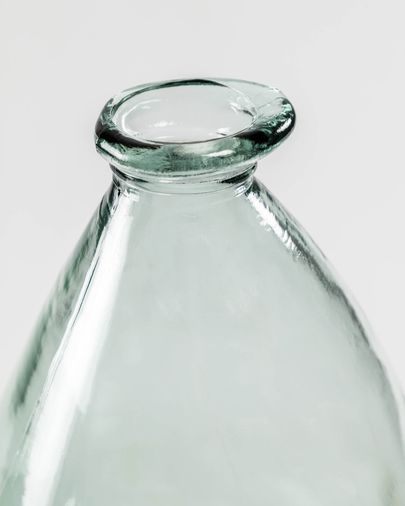 Vase Brenna transparent moyen format en verre 100% recyclé