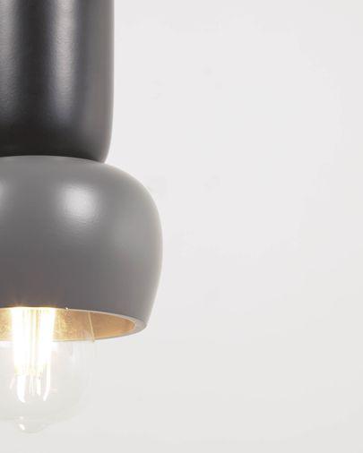 Lámpara de techo Cathaysa de metal con acabado pintado gris y negro
