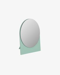 Mica spiegel groen  17 x 20 cm