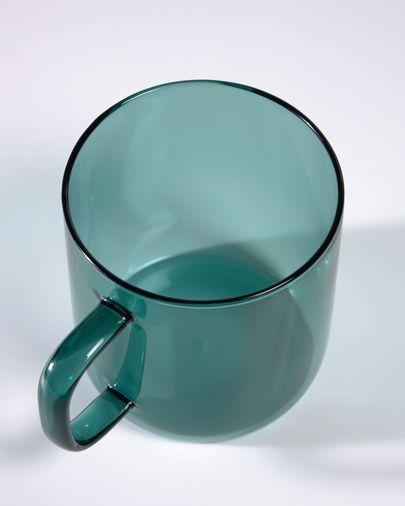 Taza Morely cristal turquesa