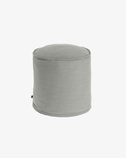 Grey Maelina Puf Ø 42 cm