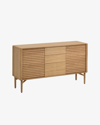 Lenon oak wood sideboard 152 x 86 cm FSC MIX Credit