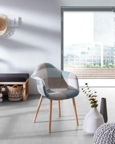 Blue patchwork Kevya chair