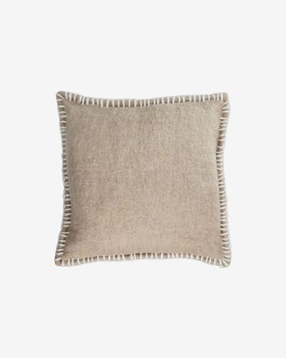 Augustina brown cushion cover 45 x 45 cm
