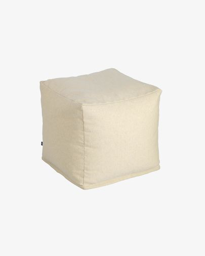 Squared 50 x 50 cm Beige Nedra pouf