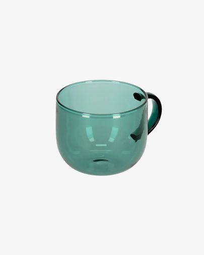Taza de café Alahi de vidrio verde
