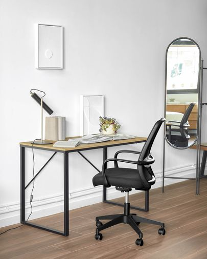 Silla de escritorio Melva negro