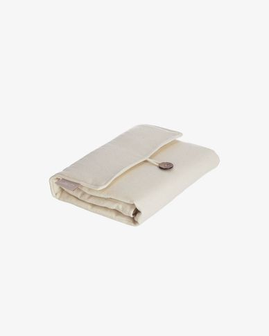 100% natural organic cotton (GOTS) Jeila travel changing mat