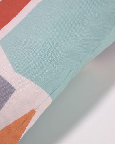 Capa almofada Calantina 100% algodão quadros multicolor 30 x 50 cm