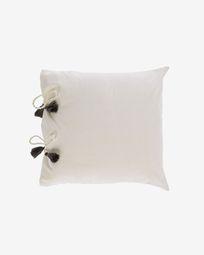 Funda cojín Varina 100% algodón blanco 45 x 45 cm