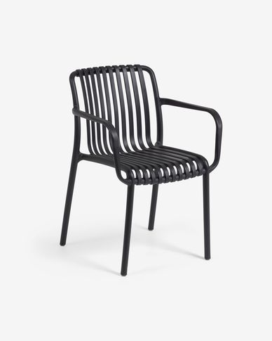 Isabellini garden chair in black