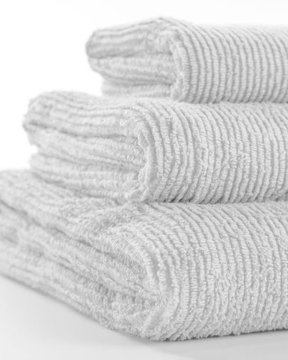 Miekki small bath towel white