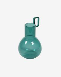 Iarena turquoise glass vase 16,5 cm