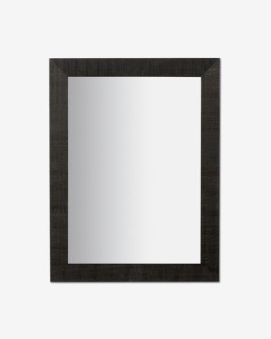 Espejo Seven 62 x 82 cm negro