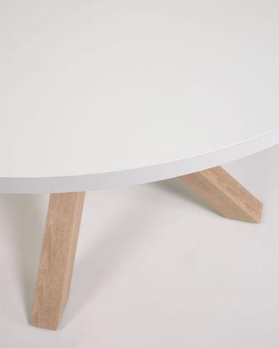 Tafel Full Argo rond van melamine met stalen poten met houteffect Ø 119 cm