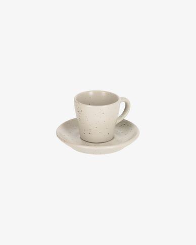 Tassa de cafè amb plat Aratani blanc