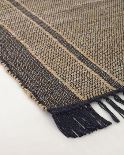 Alfombra Brunilda negro y marrón 160 x 230 cm