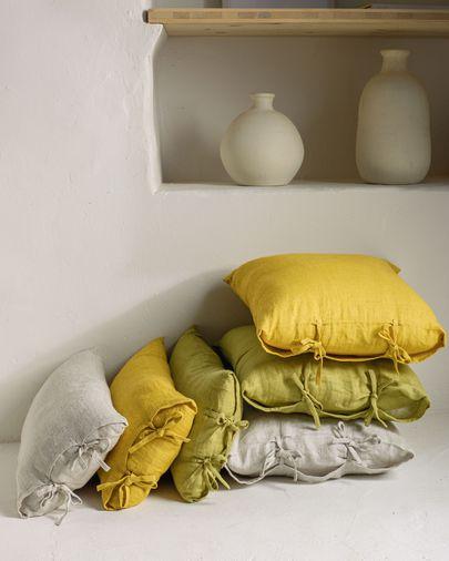 Poszewka na poduszkę Tazu 100% len zielony 45 x 45 cm