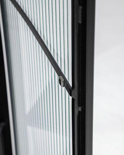 Vitrina Trixie acero con acabado negro 70 x 143 cm