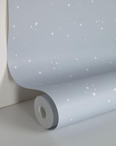 Papel de parede Ludmila estampado estrelas branco 10 x 0,53 m