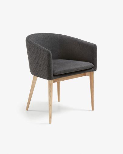 Harlan stoel donkergrijs en naturel