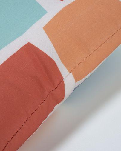 Funda coixí Calantina quadres multicolor 45 x 45 cm