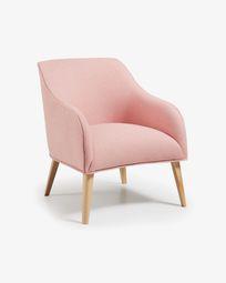 Fotel Bobly różowy