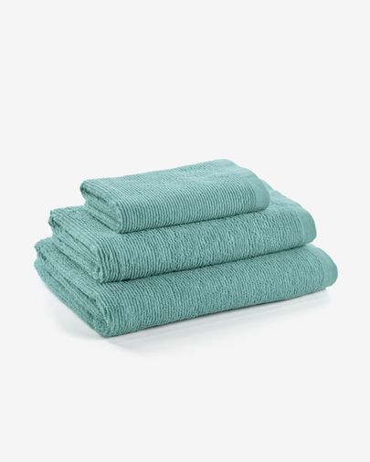Miekki large bath towel light turquoise