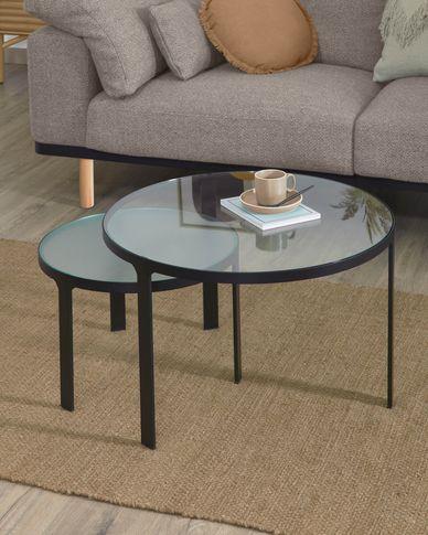 Set Oni de 2 mesas auxiliares Ø 70 cm / Ø 50 cm