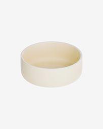 Roperta large porcelain bowl in beige