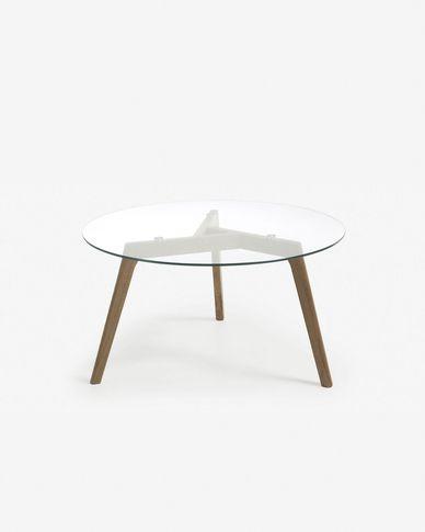 Glass Kirb coffee table Ø 90 cm