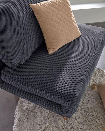 Carmin rhombus pink corduroy cushion cover 45 x 45 cm