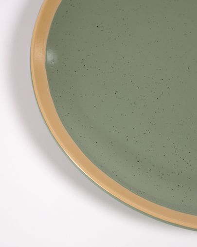 Donkergroen keramisch dinerbord Tilla