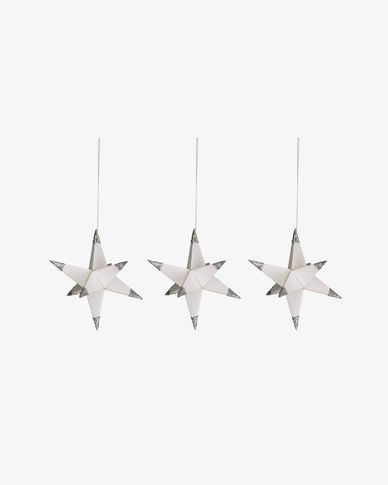 Set di 3 stelle decorative Belalia da appendere