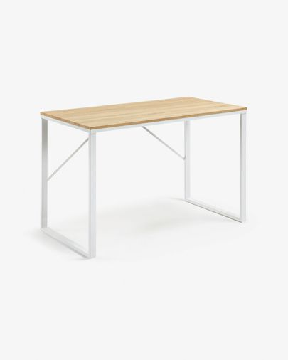 Rectangular white Talbot desk 120 x 60 cm