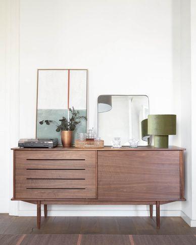 Carolin in veneered walnut sideboard 180 x 83.8 cm