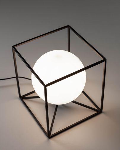 Lámpara de mesa Tachi de acero y cristal glaseado