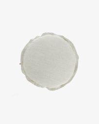 White Maelina cushion cover Ø 45 cm