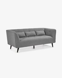Saffron 3-sitzer Sofa 200 cm, grau