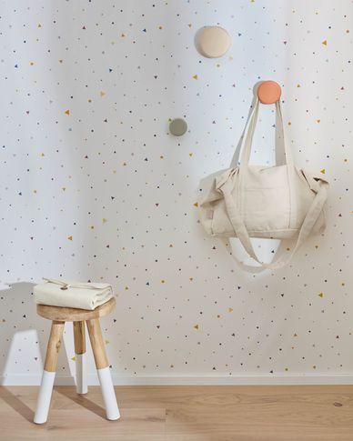 Miris wallpaper multicoloured polka dot and triangle pattern, 10 x 0,53 m FSC MIX Credit