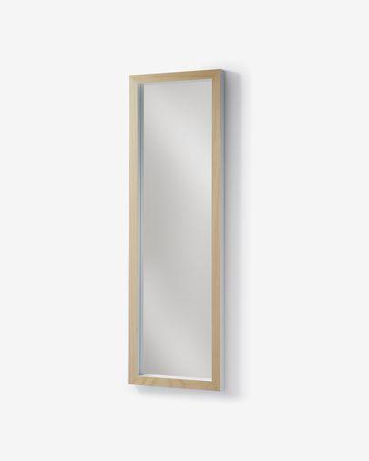 Espejo Enzo de madera maciza de ayous 48 x 148 cm blanco