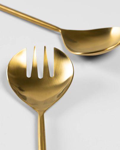 Set Lite 2 posate per insalata dorato