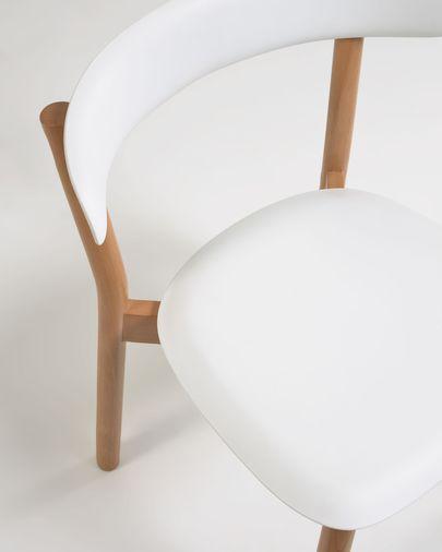 Silla Santina blanco y madera maciza haya