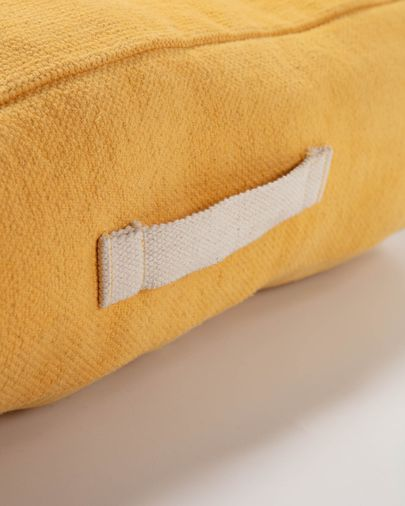 Sarit 100% cotton mustard yellow floor cushion 60 x 60 cm