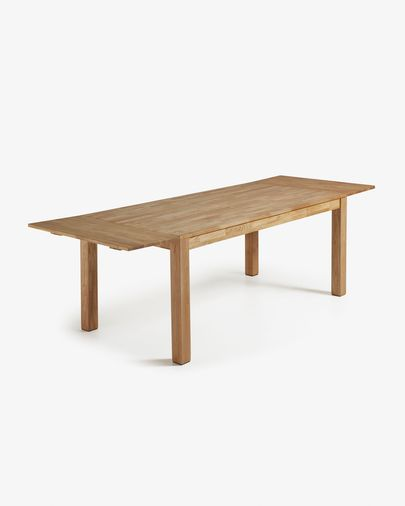 Mesa extensible Isbel 120 (200) x 75 cm madera maciza de roble