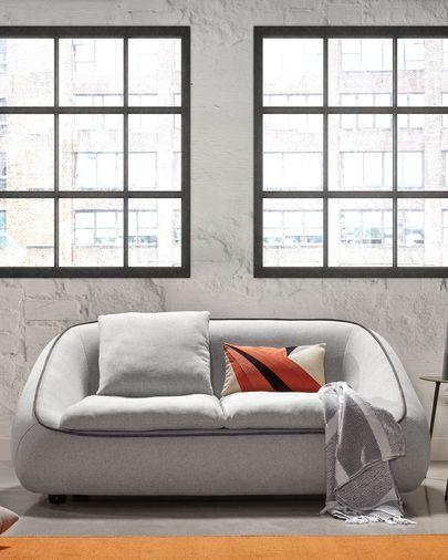 Sofà Safira 3 places gris clar 160 cm