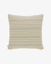 Sydelle striped brown cushion cover 60 x 60 cm