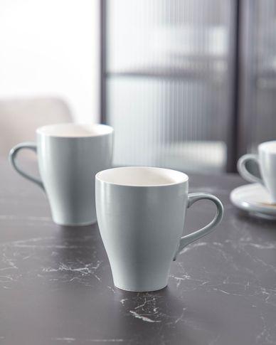 Taza Sadashi de porcelana blanco y gris