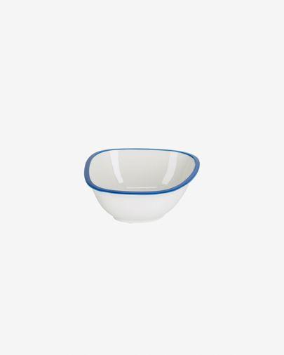 Bol petit Odalin porcelaine blanc et bleu